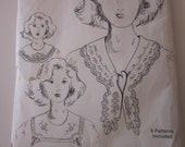 Vintage sewing Pattern 8 Victorian Collars by Elizabeth Anne upcycled doilies runners
