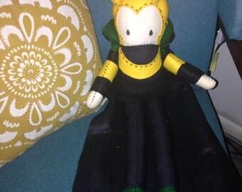 "Handmade 21"" Loki Plush Doll Made to Order"