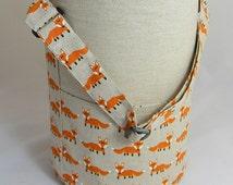 Knitting Tote Bag. Large Shoulder Bag, Internal and External Pockets.