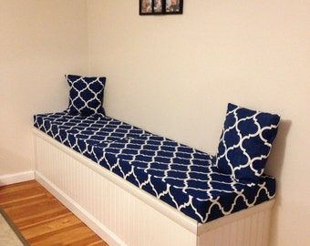 "Custom Bench Cushion ""Covers Only"", Window Seat, Play room, Entry, Patio, Porch Swing, Garden Bench, Dinette,  Pool Side, Mudroom"
