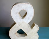 "12"" Farmhouse Ampersand & Home Decor  Vintage Style Letters and Symbols"