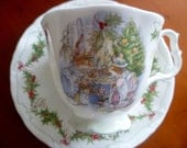 Royal Doulton Brambly Hedge 'Merry Midwinter' Cup and Saucer - Second Quality