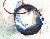 Enso I - November 2014, abstract painting on paper, small art work