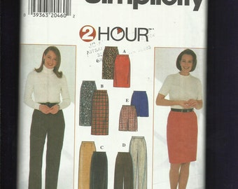 Simplicity 7693 Straight Skirts & Pants in Three Fashion Lengths Size 8 to 14 UNCUT