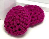 Kitchen Scrubbies, Crochet Scrubbies, Eco Friendly Dish Scrubbies, Fuschia Scrubbies, Set of 2