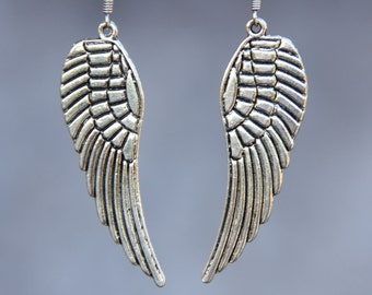 5.99-9.99 dollars Angel wing drop dangling earrrings Bridesmaid gifts Free US Shipping handmade Anni designs