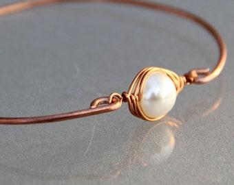 Personalized Copper Birthstone Bangle Bracelet Custom Jewelry Handmade Hand Stamped Freeshipping Handmade Anni Designs Personalized
