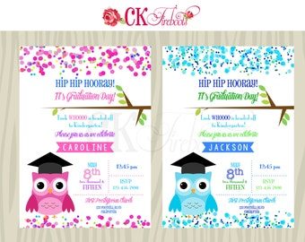 Preschool - Kindergarten Graduation Invite
