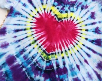3T Toddler Purple Heart Tie Dye Tee