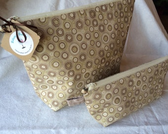 Cosmetic bag, zipper pouch. Zipper bag