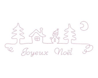 Instant download merry christmas embroidery design download