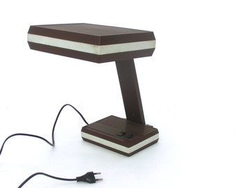 Vintage brown lamp, 70s office lamp,Table lamp, Modern design, Desk lamp