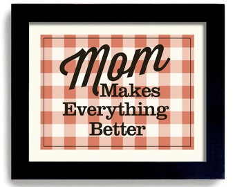 Mothers Day Gift Laundry Room Art Decor Mom Kitchen Help Art Sign Cooking Wall Art Print Mother Birthday Gift Cook Book