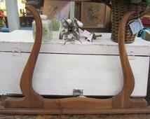 Vintage Architectural Salvage Oak Harp Victorian Edwardian Prairie Style DIY FREE Shipping