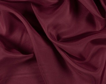 """45"""" Wide 100% Silk Habotai Dark Red-Wholesale by the Yard"""