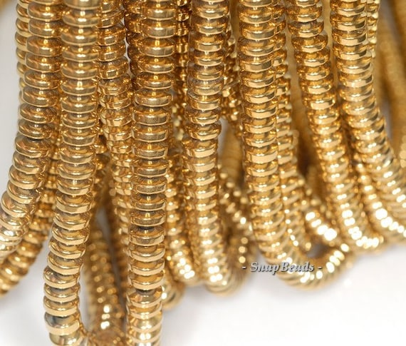 6x3mm Gold Hema... Gold Hematite Beads