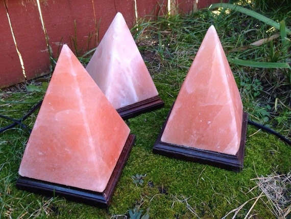 Pink Sea Salt Lamps : Pyramid Himalayan Sea Salt Lamp natural ionizer ions
