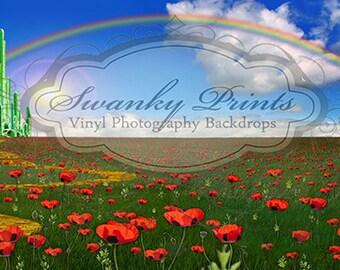 16ft x 8ft Vinyl Photography Backdrop / Wizard of Oz Castle
