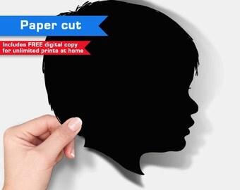 Custom Paper-cut Silhouette