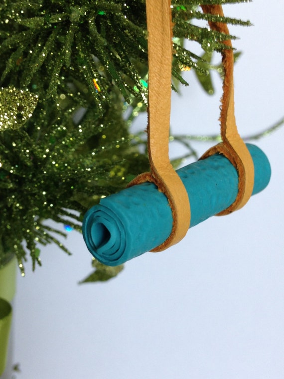 Yoga Ornament Yoga Mat Christmas Ornament Leather And Polymer