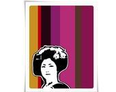 Geisha Painting Japanese Pantone Modern Contemporary Marsala Graphic Digital Art Print Illustration