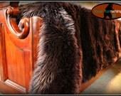 Faux Fur Bed Spread / Shaggy Dark Brown Bear Skin Bedspread / Throw Blanket / All New Sizes