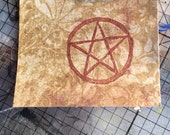 Hand Carved Pentacle, Pentagram Rubber Stamp