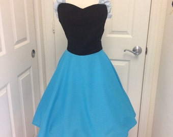Ariel costume apron dress and bow