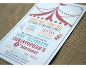Printable Carnival Birthday Party Invitation - Big Top - Cotton Candy - Popcorn - Circus Style Poster Invitation - Printable