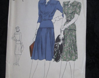 1940's VOGUE Special Design PATTERN for Ladies Dress