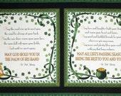 LAST PANEL - Quilting Treasures - A Wee Bit Irish - Irish Blessing Panel