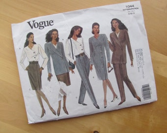 Uncut Vogue Sewing Pattern 1044 - Misses Jacket, Dress, Top and Skirt  -  Size 8-12