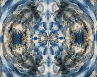 Throat Chakra Feng Shui Healing Art, Vishuddha Art,Metaphysical Art,Ice Photography,Communication Reiki Art, Digital Download prints to 8x10