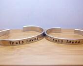 truly loved mother daughter (infant toddler) bracelet set - mother daughter set - mother daughter bracelet - love - handstamped bracelet
