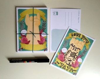 Postcard Tatto (Pack of 5)