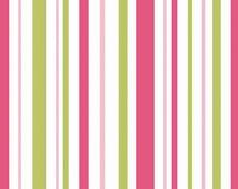 Fat Quarter, Stripes, Primrose Garden by Riley Blake, Stripe Fabric, Pink Fabric, Pink Stripes, 02116