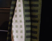 Tea Towel- Squares & Stripes Handwoven Cotton/Linen