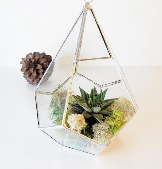 terrarium glass terrarium teardrop large hanging. Black Bedroom Furniture Sets. Home Design Ideas