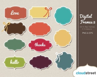 Digital Frames Clip Art ( Vector Vintage Frames clipart ) for personal and commercial use