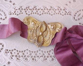 Enchanting 2 Piece Victorian Era Sash Buckle