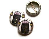 221B Baker Street Pin Badge Sherlock Holmes Badge Geeky Badge