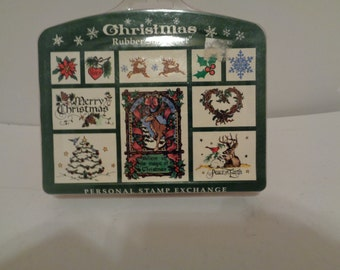 Christmas Rubber Stamp kit