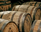 Reclaimed Kentucky Bourbon Whiskey Barrels (Round Tables, Decoration, Rustic, Western)