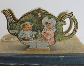 Vintage Merrimack Teapot Box // Gift Box // Engagement Ring Box