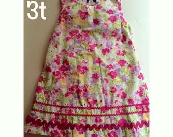 floral rickrack Dress 3T