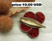 Hair clip, butterfly brooch, zip butterfly, hair accessories, brooch or for hair, gift for girlfriend, unique gift, SALE 30%OFF