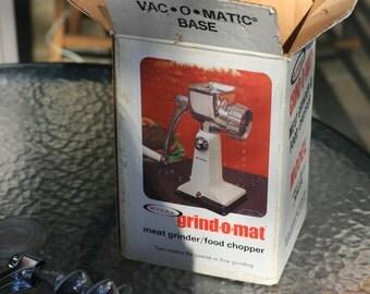 Vintage Grind O Mat, Meat Grinder, Food Chopper by Rival, 303TV, 1960s