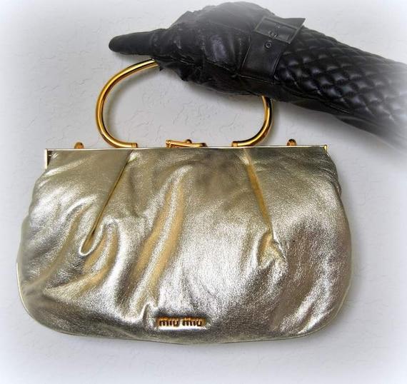 SALE Vtg Designer Bag MIU MIU of Prada Handbag by EventOutlet