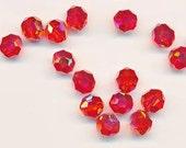 Twelve dazzling limited edition Swarovski crystals: art 5000 - 8 mm - hyacinth AB 2X