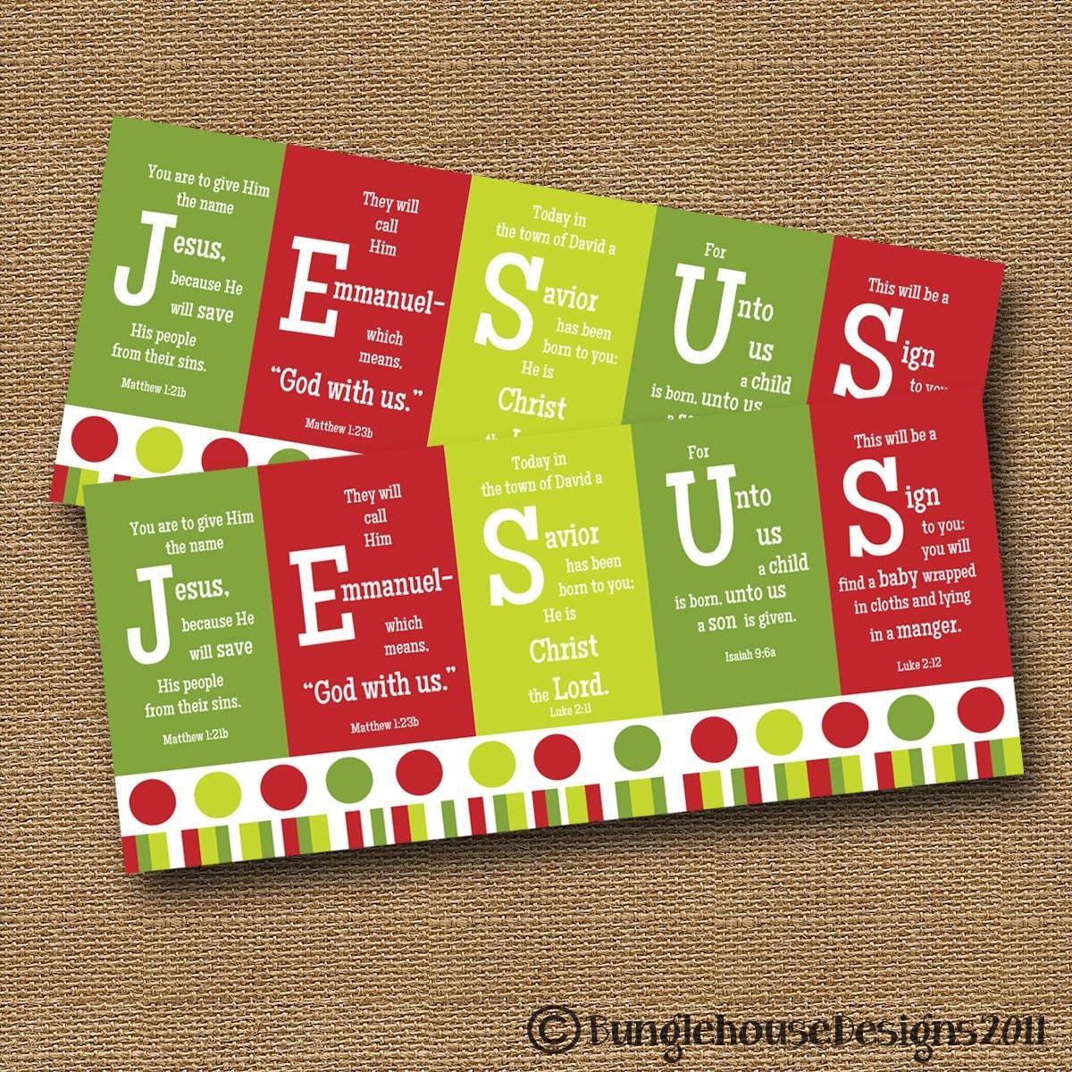 Instant Download Christmas Card DIY PRINTABLE JESUS